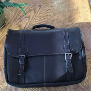 🎊HP🎊 NWOT Kenneth Cole Leather Laptop Bag